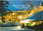 Mirror Lake Inn Resort and Spa Christmas Lights Large Postcard