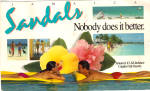 Click here to enlarge image and see more about item lp0513: Sandals Resorts Jamaica Large Postcard