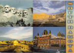 Click here to enlarge image and see more about item lp0537: Corn Palace Mt Rushmore  Badlands  SD lp0537