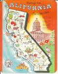 Click here to enlarge image and see more about item lp0726: State Map of California Postcard lp0726