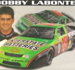 Click here to enlarge image and see more about item lp0851: Bobby Labonte No 18 Interstate Batteries  pit card lp0851