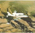 Columbia on 747 after STS-2 postcard lp0854