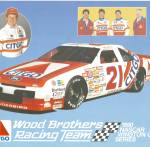 Click here to enlarge image and see more about item lp0857: Neil Bonnet No 21 Wood Brothers  lp0857 Pit Card
