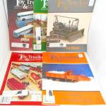Click here to enlarge image and see more about item M0001: Toy Trucker and Contractor Vintage Magazine Lot of 5 M0001