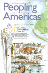 Click here to enlarge image and see more about item ma0014: Peopling of the America s Nat Geo Map ma0014
