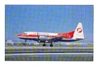 Frontier Commuter CV 580  Airline Postcard