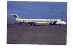 Transwede MD-83 Airline Postcard mar1951