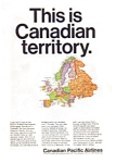 Canadian Pacific Airlines to Europe Ad