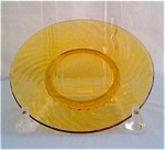 Twisted Optic Sherbet Plate Amber Lot