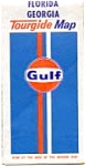 Gulf Oil Highway Map 1972 FL and GA