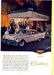Click here to enlarge image and see more about item may0261: 1957 Cadillac Hardtop Ad Nan Duskin Gowns may0261