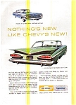 1959 Chevy Impala and Bel Air Ad