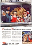 Click here to enlarge image and see more about item may0451: New York Central RR Ad Christmas1953