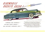 Click here to enlarge image and see more about item may0459: 1950 Olds 4-Door Sedan Ad may0459