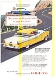 Click here to enlarge image and see more about item may0462: 1956 Ford Fairlane Fordor Victoria Ad may0462