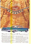 Click here to enlarge image and see more about item may0467: 1957 Cadillac Ad with Jewels by Winston