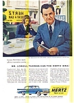 Click here to enlarge image and see more about item may0470a: Hertz 57 Chevy Lowell Thomas  Ad
