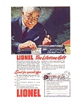 Click here to enlarge image and see more about item may0951: Lionel Train Ad Lifetime Gift 1943