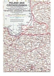 Click here to enlarge image and see more about item may1057: Poland and Czechoslovakia Map