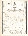 Click here to enlarge image and see more about item may1434: Furniture Line Drawings may1434