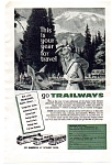 Trailways Ad Apr 1957 National Geographic