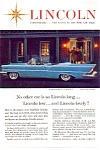 Click here to enlarge image and see more about item may2737: 1957 Lincoln Convertible Ad may2737