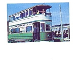 Click here to enlarge image and see more about item may3320: Double-Decker Trolley Postcard