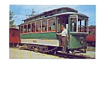 Boston  Trolley Postcard