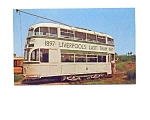 Liverpool Last Tram Trolley Postcard may3325