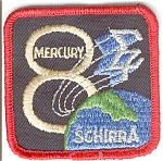 Click here to enlarge image and see more about item mercury8:  NASA Mercury 8  Space Patch