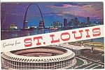 Click here to enlarge image and see more about item n0032: Busch Stadium St Louis MO Postcard