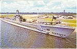 USS Drum Submarine Postcard n0033