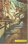 Click here to enlarge image and see more about item n0048: Cold Water Canyon WI River Postcard n0048
