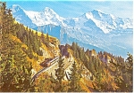 Click here to enlarge image and see more about item n0092: Berner Oberland Mountain View Postcard n0092