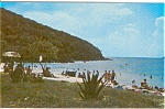 Click here to enlarge image and see more about item n0100: Coki Beach St Thomas VI Postcard