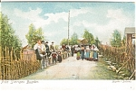Click here to enlarge image and see more about item n0135: Country Lane Scene Polish ? Postcard n0135