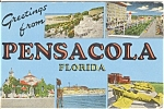 Greetings From Pensacola Postcard n0182