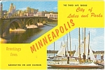 Click here to enlarge image and see more about item n0207: Greetings From Minneapolis Postcard