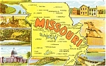 Missouri Map Multiview Postcard n0209