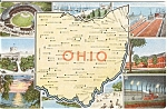 Ohio Map Multiview Postcard