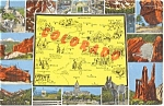 Click here to enlarge image and see more about item n0229: Colorado Map Multiview Postcard n0229