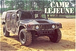 Click here to enlarge image and see more about item n0259: Marines Camp Lejune Hummer