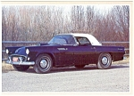 Click here to enlarge image and see more about item n0268: 1955 Ford Thunderbird Postcard