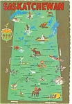 Click here to enlarge image and see more about item n0315: Map of Saskatchewan Canada Postcard n0315