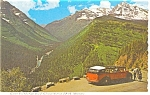 Click here to enlarge image and see more about item n0319: Tour Coach Glacier National Park Montana n0319