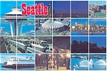 Seattle, WA, Multi View Postcard