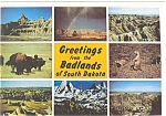 Click here to enlarge image and see more about item n0343: Badlands of South Dakota Postcard n0343
