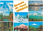 Mt Hood, Oregon Multiviews Postcard