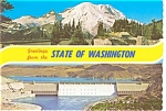 Click here to enlarge image and see more about item n0378: Mt Rainier and Grand Coulee Dam