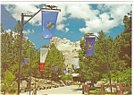 Mt Rushmore South Dakota Avenue of Flags n0382